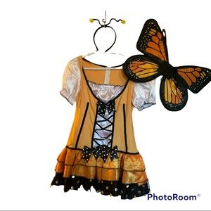 Adult Butterfly Halloween Costume 3 piece Sz Small